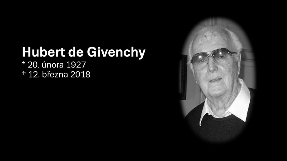Zemřel módní návrhář Hubert de Givenchy. Oblékal Hepburnovou i Kennedyovou