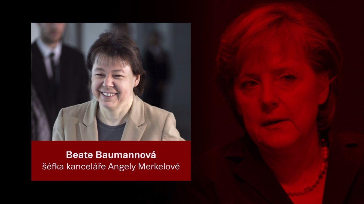 Beate Baumannová. Nejbližší osoba Angely Merkelové, mimo jejího chotě