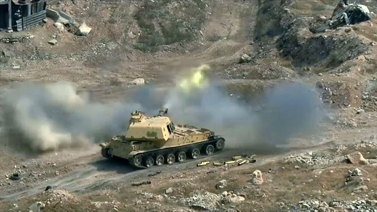 Video: Divoké boje v Sýrii. Tanky a dělostřelectvo svádějí bitvu o Damašek