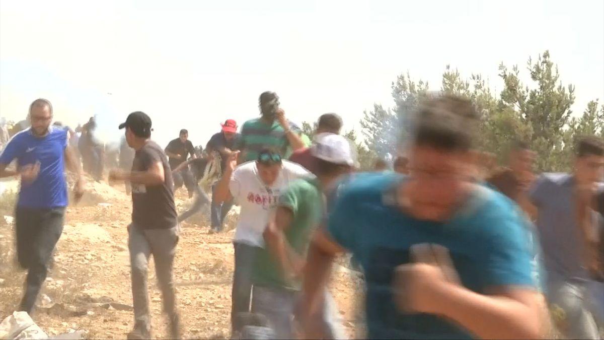 Palestinci dvakrát protestovali proti Izraeli, 180 jich bylo zraněno