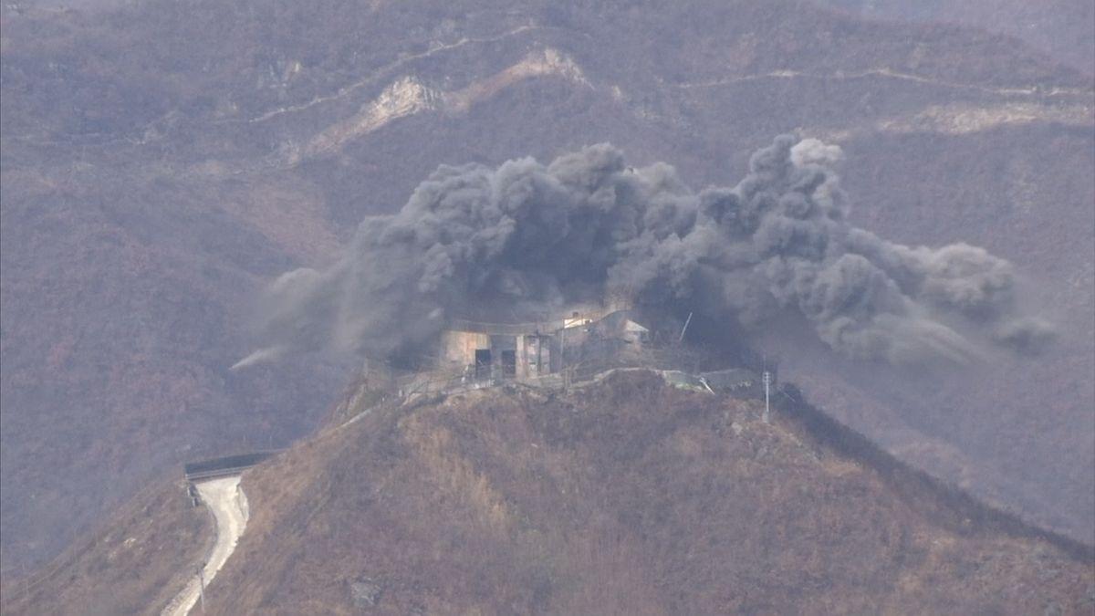 Jižní Korea plní podmínky mírové dohody. Likviduje vojenské bunkry useverokorejských hranic