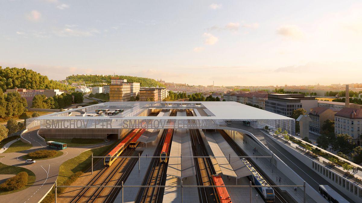 Vizualizace: VPraze vznikne nádraží ve stylu tři vjednom