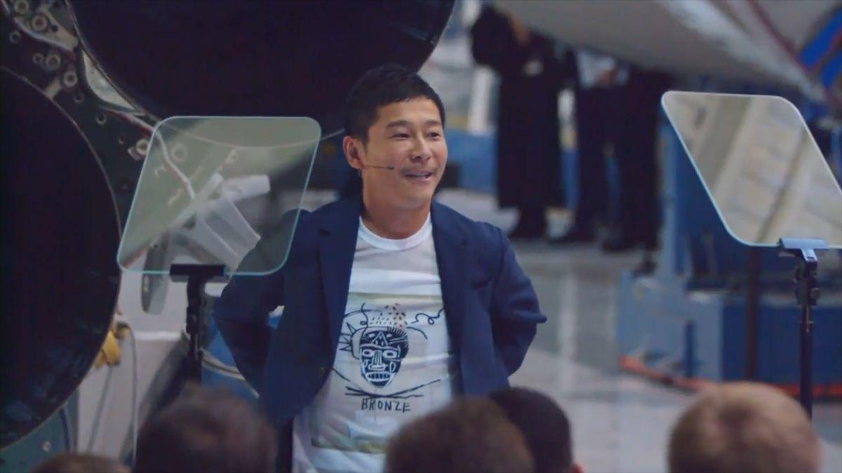 Jako první turista poletí na oběžnou dráhu Měsíce japonský miliardář se skupinou umělců