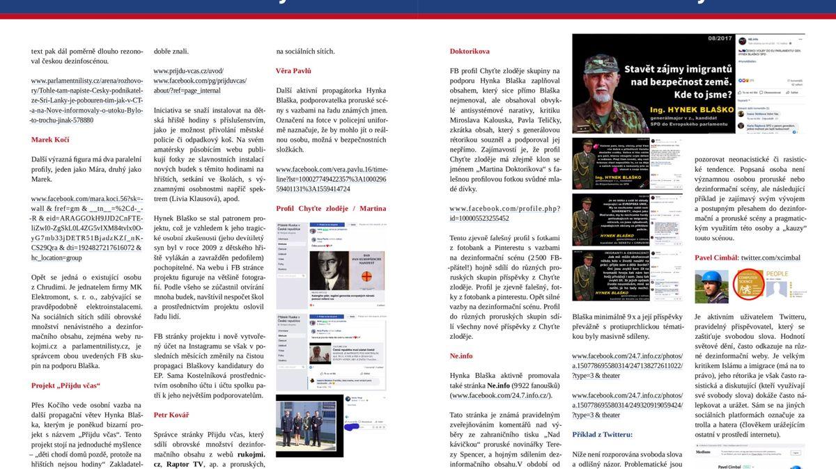 Řetězové e-maily vkvětnu: útoky na demonstranty iučebnice dějepisu od BIS