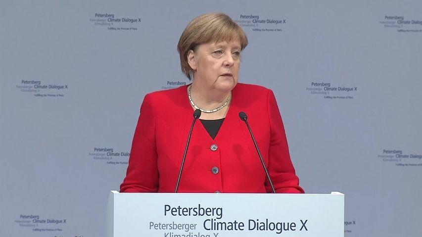 Merkelová: Německo by do roku 2050mělo být klimaticky neutrální