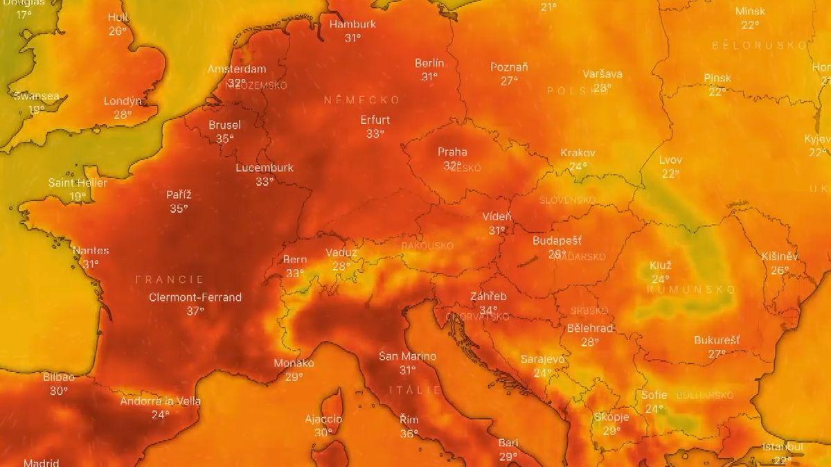 Na Evropu udeřila druhá vlna veder, přepisují se klimatické dějiny