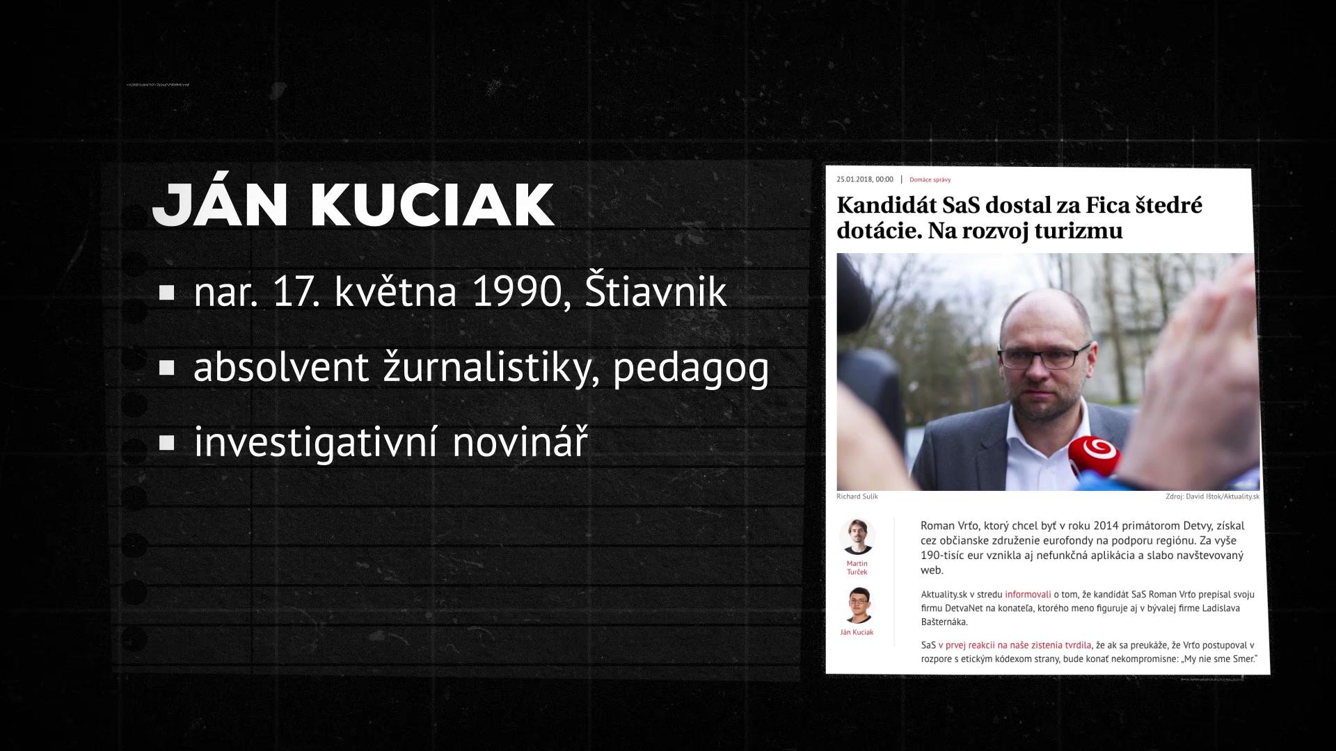 Fakta: Kdo byl Ján Kuciak