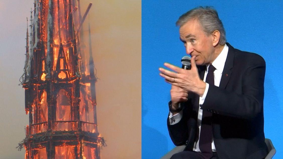 Nejbohatší muž Francie slíbil pět miliard na obnovu vyhořelého Notre-Dame
