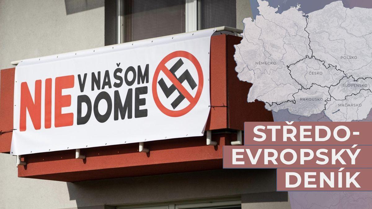 Sousedé ve Zvolenu vzdali boj sKotlebou, plakáty proti fašismu sundali