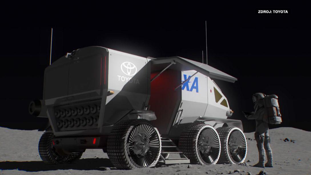 Ujede až 10tisíc kilometrů, vnouzi ubytuje čtyři lidi. Toyota vyvíjí vozidlo na Měsíc
