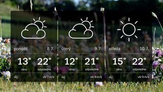 Po horkém začátku léta čeká Česko ochlazení. Teploty klesnou pod 20°C
