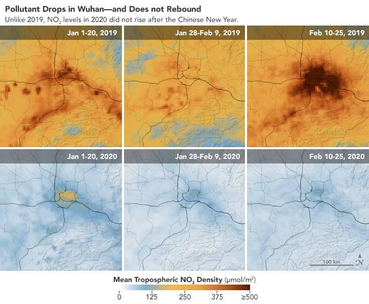 Wuhan drop pollution