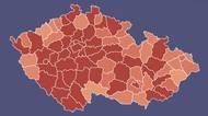 Podrobná mapa: Vážnou situaci hlásí vedle Prahy dalších 7okresů