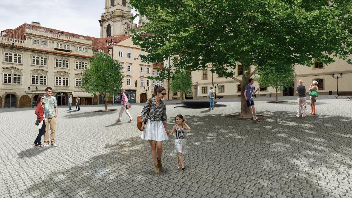 Až se zas bude možné toulat: Tak bude nově vypadat Malostranské náměstí
