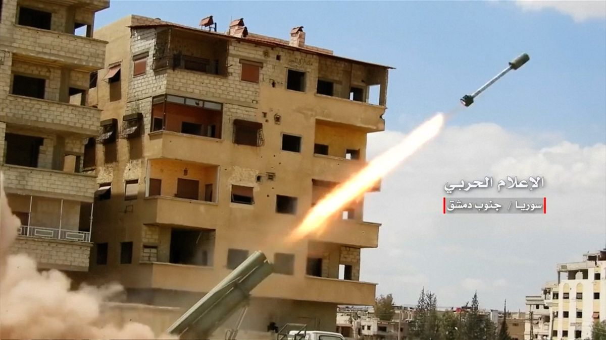Video: Syrská armáda bombardovala jižní Damašek