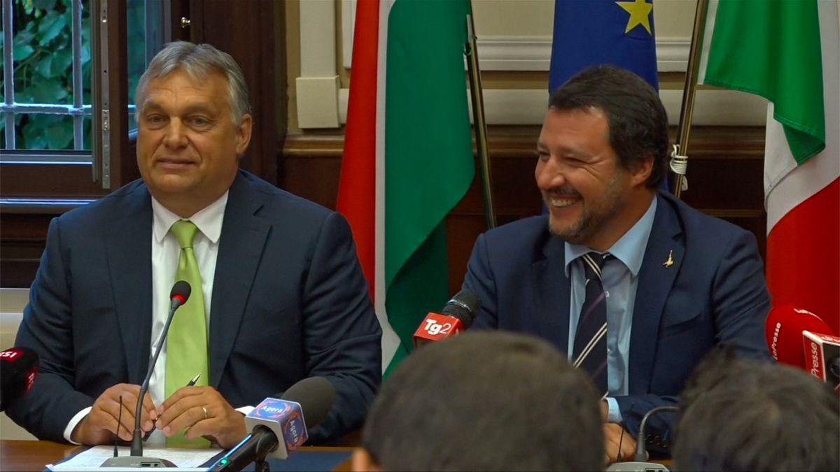 Orbán chválil Salviniho tvrdou protiimigrační politiku, evropská bezpečnost podle něj závisí na jejím úspěchu