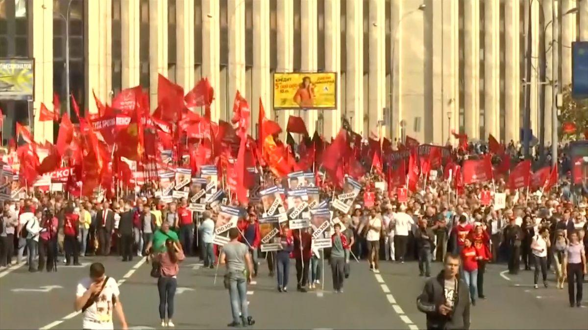Ruští komunisté demonstrovali proti penzijním reformám
