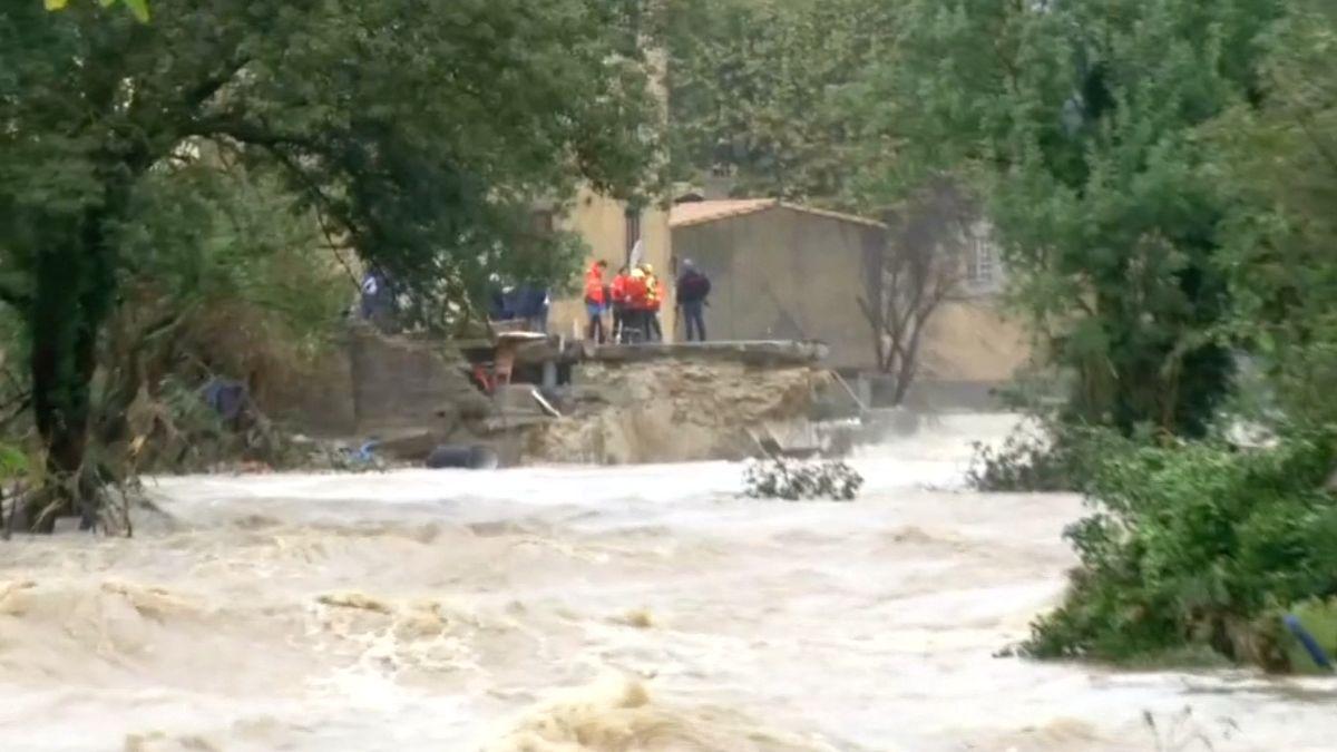 Silné deště na jihu Francie si podle vyžádaly nejméně 11mrtvých