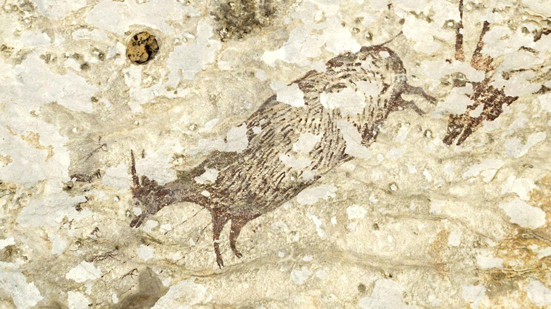 VIndonésii objevili nejstarší malbu spříběhem na světě
