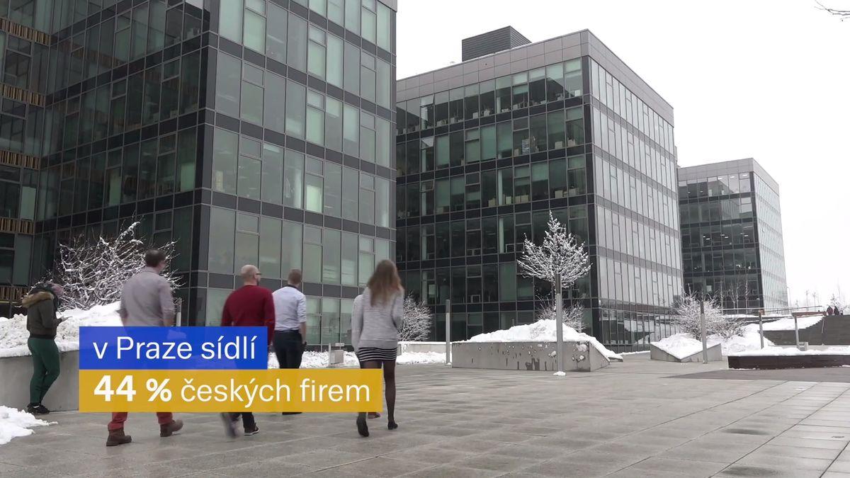 Pragocentrický byznys: 44procent českých firem má sídlo vhlavním městě