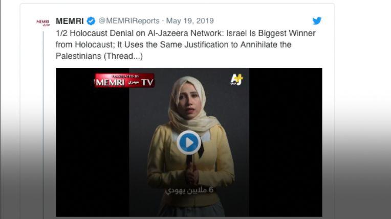 Al-Džazíra suspendovala dva novináře kvůli zavádějící reportáži oholokaustu