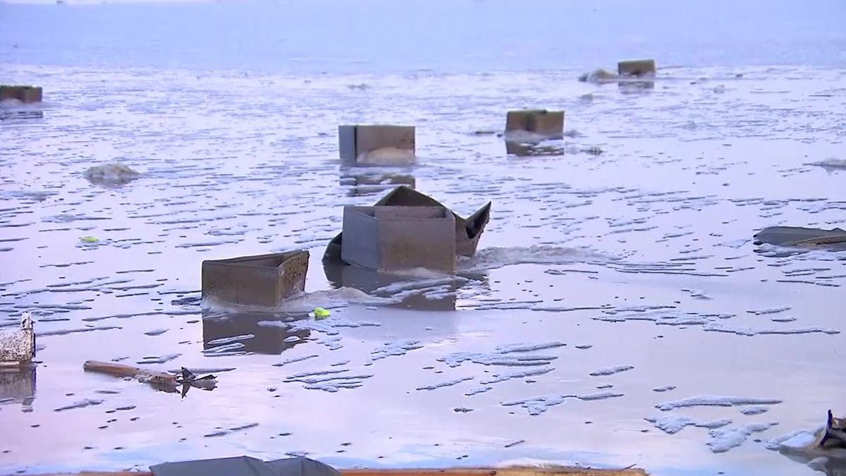 Nizozemci uklízejí pláže, které pokrylo zboží zkontejnerů. Ty do moře spadly zobří nákladní lodi