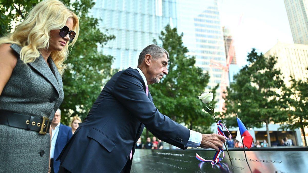 Terorismus je hlavní nepřítel, řekl premiér Babiš. VNew Yorku uctil památku obětí útoku 11.září