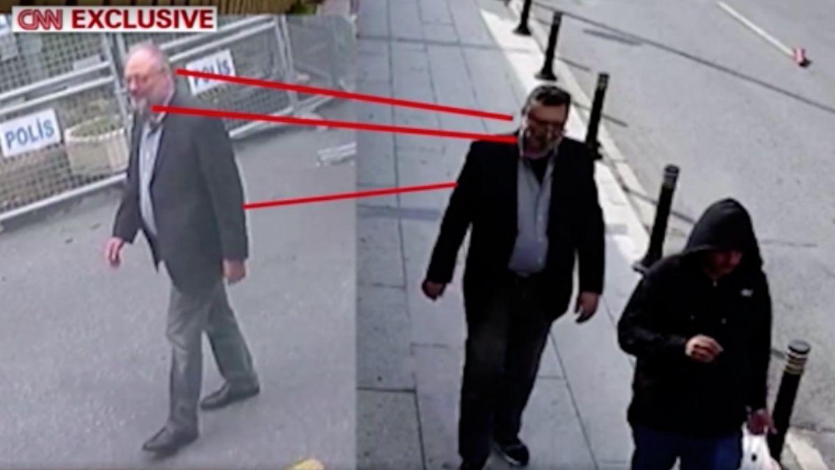 Výsledek obrázku pro Podle tureckých úřadů vyšel ze saúdskoarabského konzulátu Chášakdžího dvojník. (Video: Reuters)