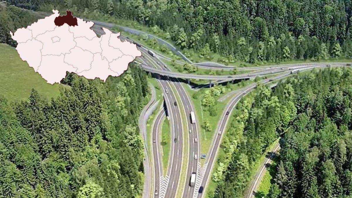 Přestavba klíčové křižovatky na cestě do Prahy vyhnala kamiony do okolí