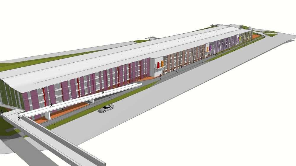 Parkovací dům na Černém Mostě vyjde Prahu na půl miliardy. Nabídne 880míst