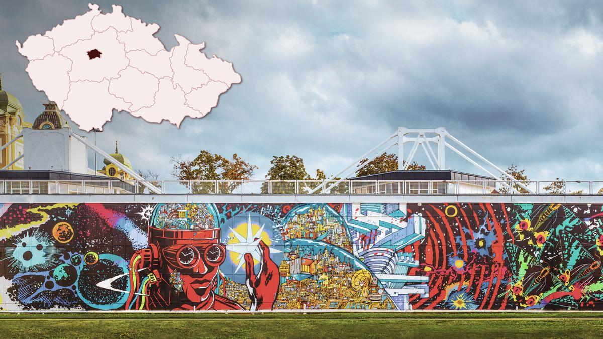 Obří graffiti po rozebrání pomůže lidem vkoronavirové nouzi