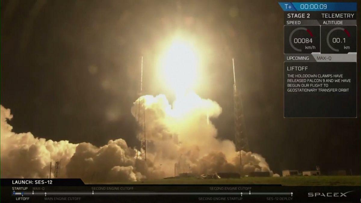 Falcon má za sebou 56. letošní start. Do kosmu vynesl další satelit