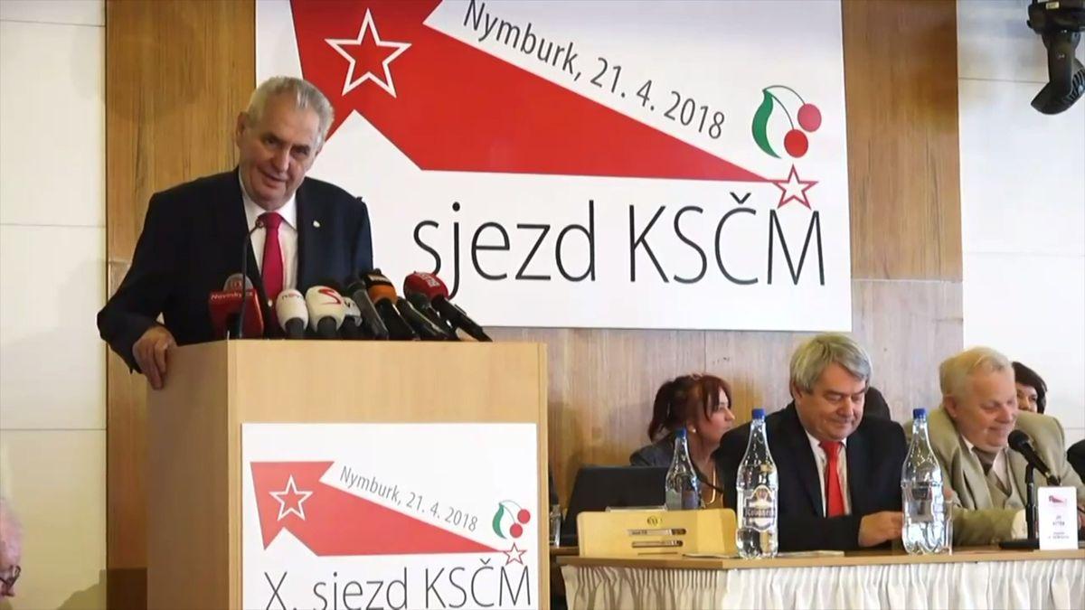 """""""Udělejte pokání,"""" vyzval komunisty Miloš Zeman. Při jednání o vládě si prý nemají dávat přehnané podmínky"""