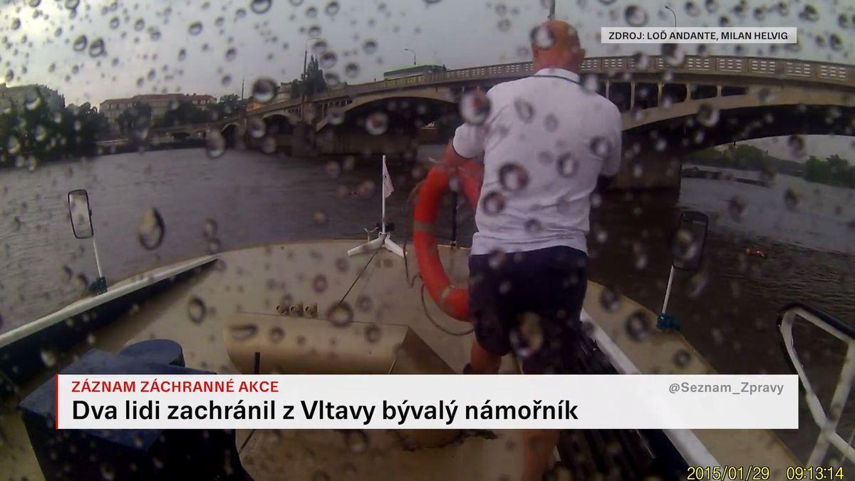 Video: Záchrana tonoucích příznivců geocachingu na Vltavě