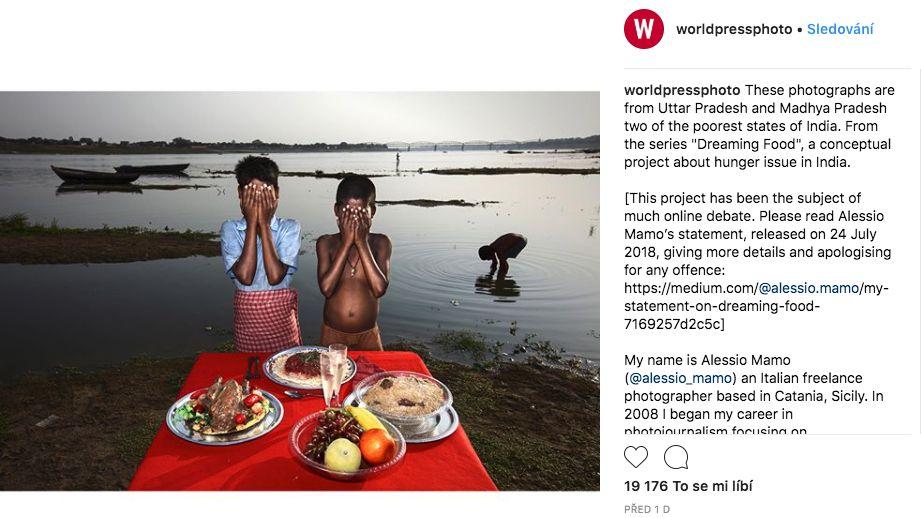 Ital fotil podvyživené Indy s umělým jídlem. Nyní je na sociálních sítích terčem kritiky