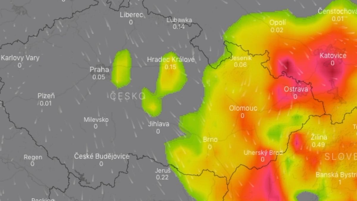 Varování meteorologů: Silné bouřky a přívalové deště zasáhnou Moravu