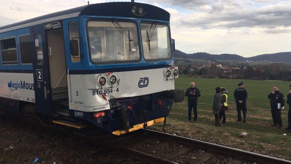 Na Chrudimsku se srazily vlaky. Pět zraněných, na místě zasahoval vrtulník