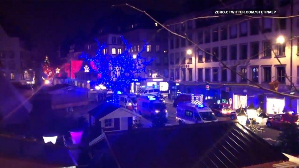 """Online: Střelec ve Štrasburku křičel """"Alláhu akbar"""""""