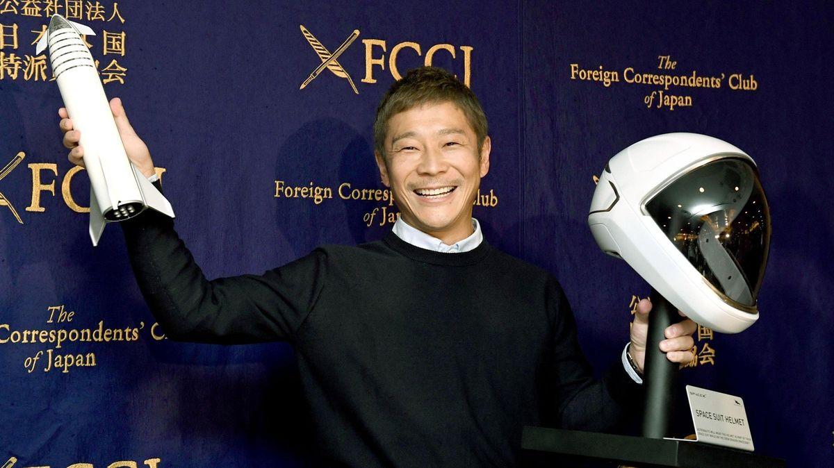 Japonský miliardář trhl rekord. Jeho tweet sdílelo nejvíce lidí vhistorii sociální sítě