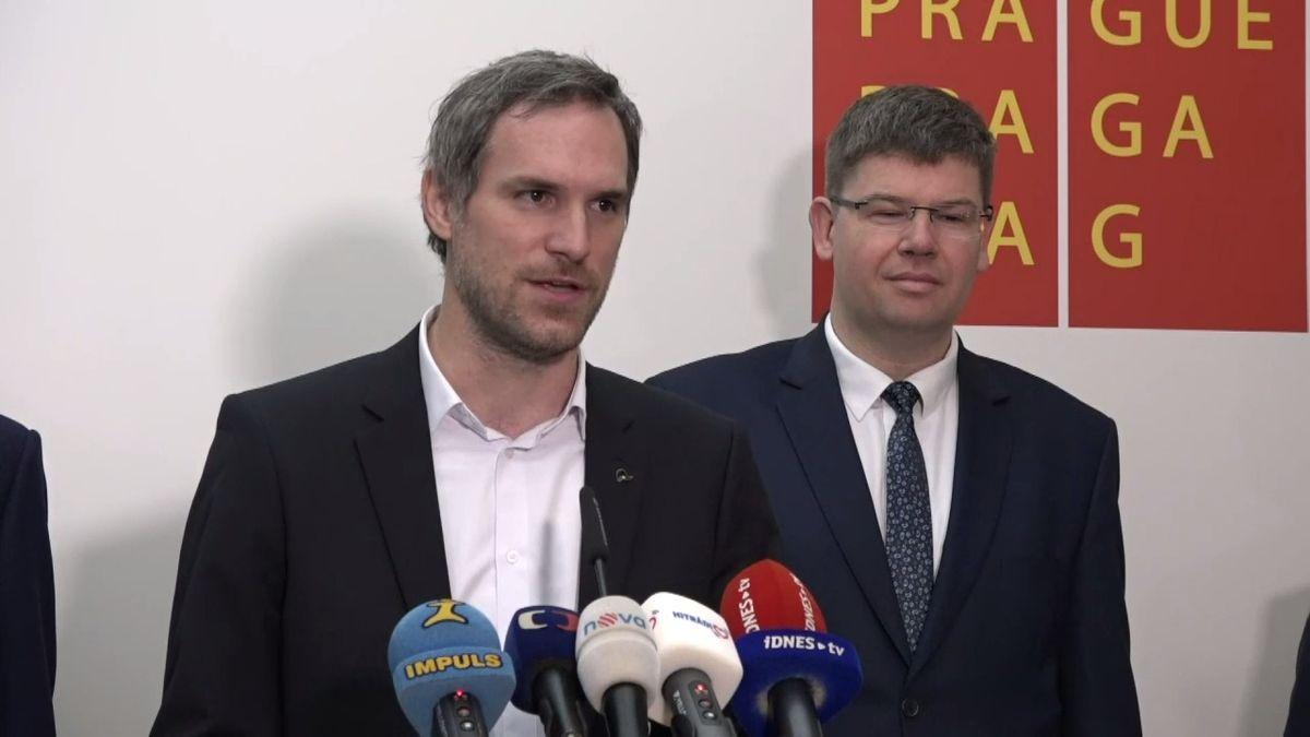 Piráti, Praha Sobě a Spojené síly pro Prahu podepsali koaliční smlouvu
