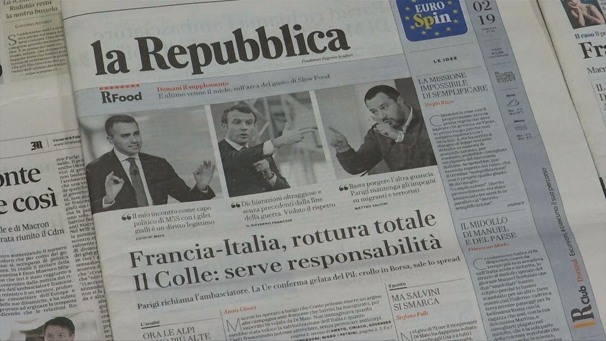 Napětí mezi Itálií a Francií vrcholí. Odvoláním velvyslance se vztah obou zemí přiblížil období před druhou světovou válkou