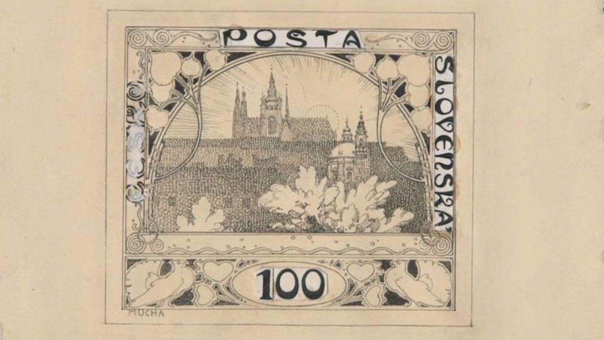 Právě se díváte na první poštovní známku vČeskoslovensku. Autorem je Alfons Mucha a před nedávnem oslavila stoleté výročí