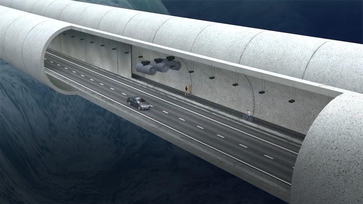 """Krále fjordů překlene """"plovoucí"""" tunel. Pro chodce ipro auta"""