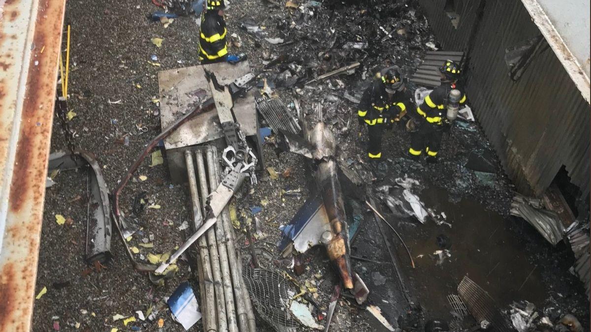 VNew Yorku havarovala helikoptéra