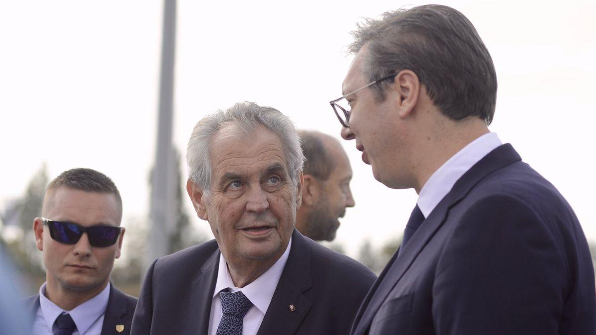 Komentář: Zemanův návrh na oduznání Kosova není náhodný blábol, ale promyšlený krok