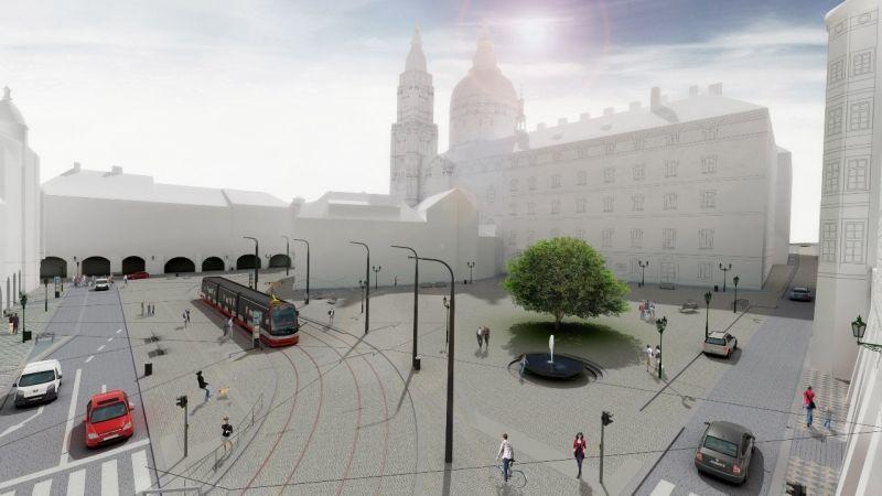 Podívejte se. ZMalostranského náměstí zmizí parkoviště a rozšíří se chodníky