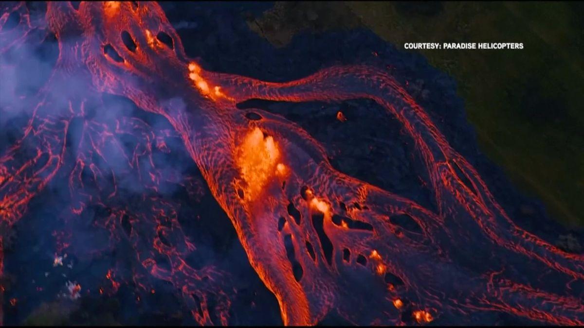 Žhavá láva havajské sopky zablokovala lidem hlavní únikovou cestu