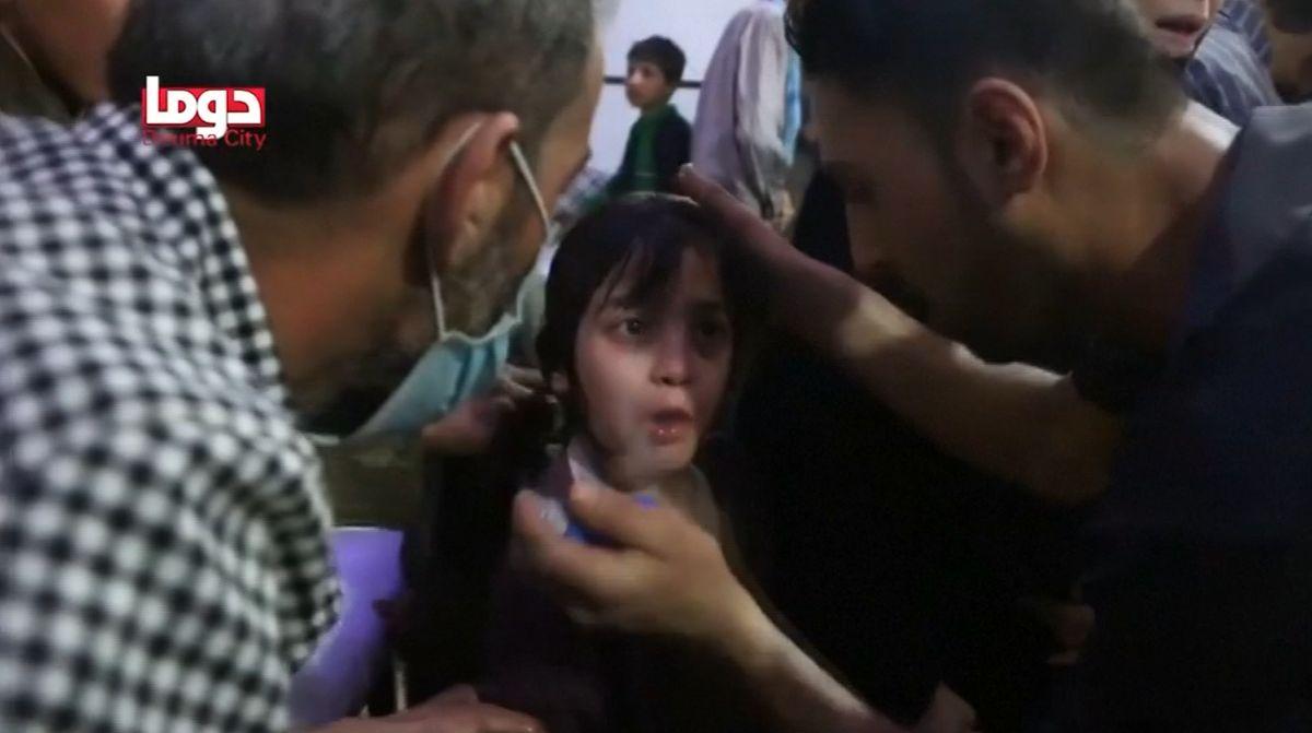 Chemický útok, který spustil raketovou odvetu proti Sýrii