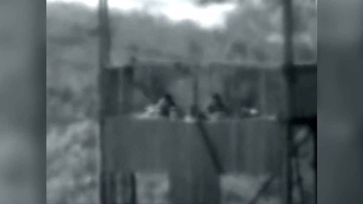 Bojovníci Hamásu pálili po Izraelcích. Ti je zlikvidovali střelou z tanku