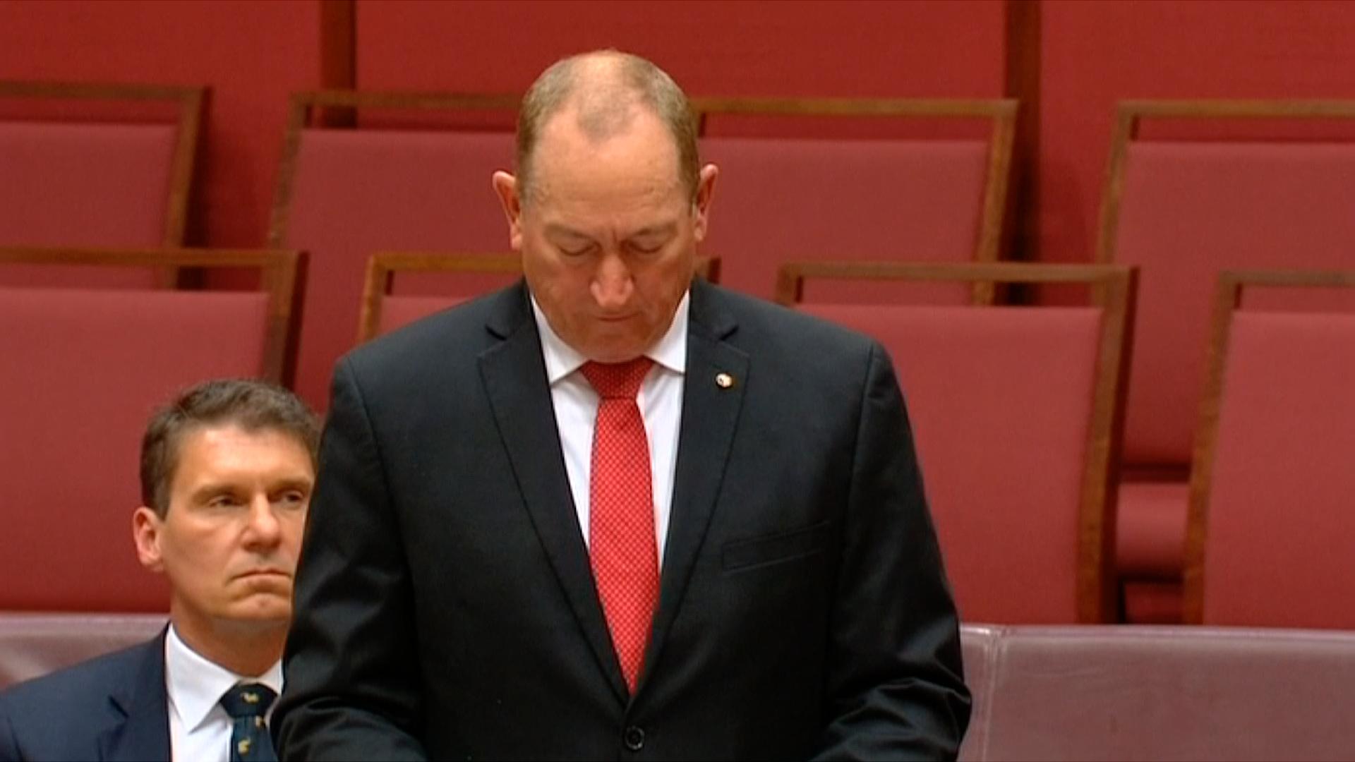 """Australský politik čelí kritice kvůli """"konečnému řešení"""" v senátním projevu"""
